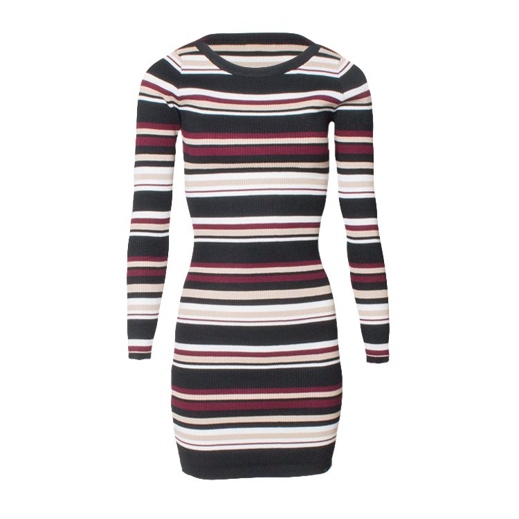 sassy-stripe-dress-rood-voor